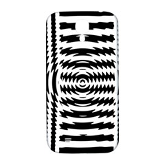 Black And White Abstract Stripped Geometric Background Samsung Galaxy S4 I9500/i9505  Hardshell Back Case by Nexatart