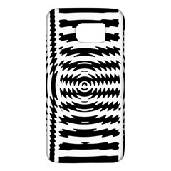 Black And White Abstract Stripped Geometric Background Galaxy S6 by Nexatart