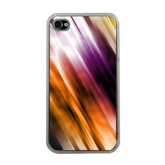 Colourful Grunge Stripe Background Apple Iphone 4 Case (clear) by Nexatart