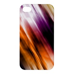 Colourful Grunge Stripe Background Apple Iphone 4/4s Premium Hardshell Case