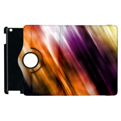 Colourful Grunge Stripe Background Apple Ipad 3/4 Flip 360 Case by Nexatart