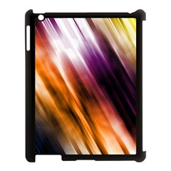 Colourful Grunge Stripe Background Apple Ipad 3/4 Case (black) by Nexatart