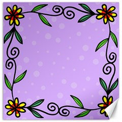 Hand Drawn Doodle Flower Border Canvas 12  X 12   by Nexatart