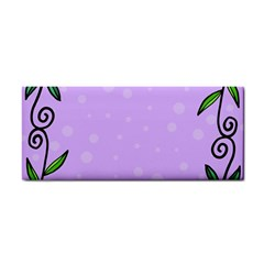 Hand Drawn Doodle Flower Border Cosmetic Storage Cases by Nexatart