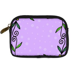 Hand Drawn Doodle Flower Border Digital Camera Cases by Nexatart