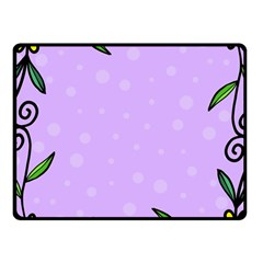 Hand Drawn Doodle Flower Border Fleece Blanket (small) by Nexatart