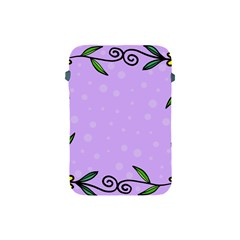 Hand Drawn Doodle Flower Border Apple Ipad Mini Protective Soft Cases
