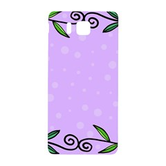 Hand Drawn Doodle Flower Border Samsung Galaxy Alpha Hardshell Back Case by Nexatart
