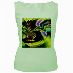 Spiral Of Tubes Women s Green Tank Top