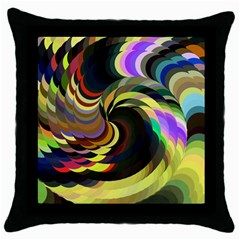 Spiral Of Tubes Throw Pillow Case (black)