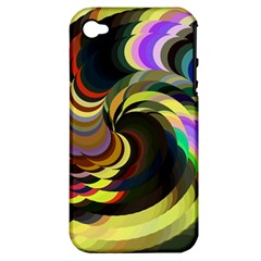 Spiral Of Tubes Apple Iphone 4/4s Hardshell Case (pc+silicone) by Nexatart