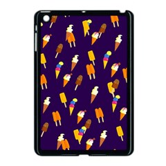 Seamless Cartoon Ice Cream And Lolly Pop Tilable Design Apple Ipad Mini Case (black) by Nexatart