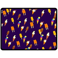 Seamless Cartoon Ice Cream And Lolly Pop Tilable Design Double Sided Fleece Blanket (large)  by Nexatart