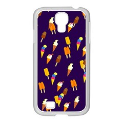 Seamless Cartoon Ice Cream And Lolly Pop Tilable Design Samsung Galaxy S4 I9500/ I9505 Case (white)