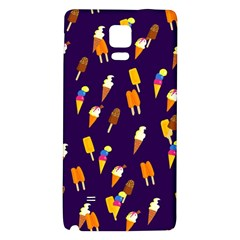 Seamless Cartoon Ice Cream And Lolly Pop Tilable Design Galaxy Note 4 Back Case by Nexatart