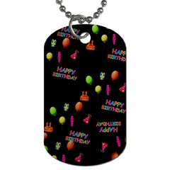 Cartoon Birthday Tilable Design Dog Tag (one Side) by Nexatart