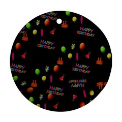 Cartoon Birthday Tilable Design Round Ornament (two Sides)