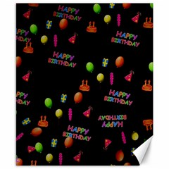 Cartoon Birthday Tilable Design Canvas 8  X 10  by Nexatart