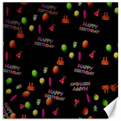 Cartoon Birthday Tilable Design Canvas 12  X 12   by Nexatart