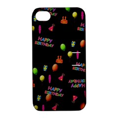 Cartoon Birthday Tilable Design Apple Iphone 4/4s Hardshell Case With Stand by Nexatart