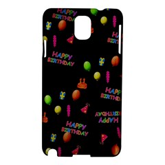Cartoon Birthday Tilable Design Samsung Galaxy Note 3 N9005 Hardshell Case by Nexatart