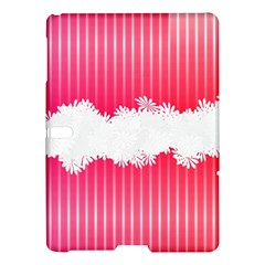 Digitally Designed Pink Stripe Background With Flowers And White Copyspace Samsung Galaxy Tab S (10 5 ) Hardshell Case  by Nexatart