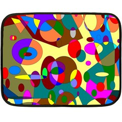Abstract Digital Circle Computer Graphic Fleece Blanket (mini) by Nexatart