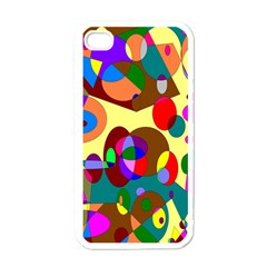 Abstract Digital Circle Computer Graphic Apple Iphone 4 Case (white) by Nexatart