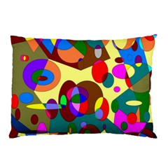 Abstract Digital Circle Computer Graphic Pillow Case (two Sides)