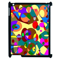 Abstract Digital Circle Computer Graphic Apple Ipad 2 Case (black) by Nexatart