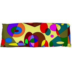 Abstract Digital Circle Computer Graphic Body Pillow Case Dakimakura (two Sides) by Nexatart