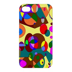 Abstract Digital Circle Computer Graphic Apple Iphone 4/4s Premium Hardshell Case
