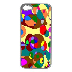 Abstract Digital Circle Computer Graphic Apple Iphone 5 Case (silver)