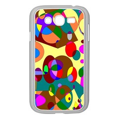 Abstract Digital Circle Computer Graphic Samsung Galaxy Grand Duos I9082 Case (white) by Nexatart