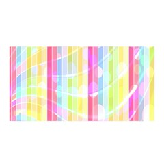 Abstract Stipes Colorful Background Circles And Waves Wallpaper Satin Wrap by Nexatart