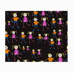 Kids Tile A Fun Cartoon Happy Kids Tiling Pattern Small Glasses Cloth by Nexatart