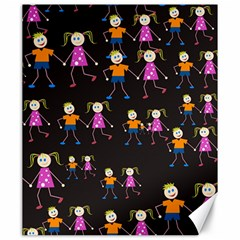Kids Tile A Fun Cartoon Happy Kids Tiling Pattern Canvas 20  X 24   by Nexatart