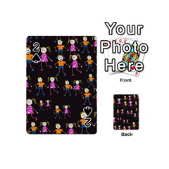 Kids Tile A Fun Cartoon Happy Kids Tiling Pattern Playing Cards 54 (mini)  by Nexatart