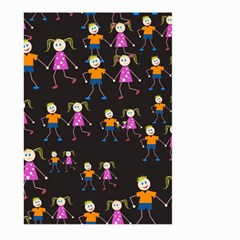 Kids Tile A Fun Cartoon Happy Kids Tiling Pattern Large Garden Flag (two Sides) by Nexatart