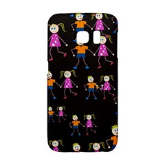 Kids Tile A Fun Cartoon Happy Kids Tiling Pattern Galaxy S6 Edge