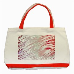 Fluorescent Flames Background With Special Light Effects Classic Tote Bag (red)