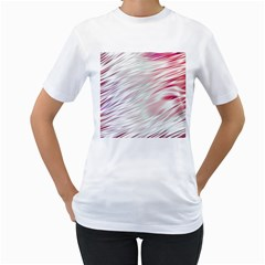 Fluorescent Flames Background With Special Light Effects Women s T-shirt (white)
