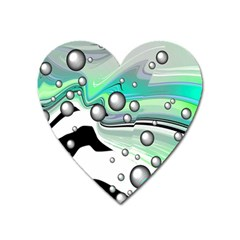 Small And Big Bubbles Heart Magnet by Nexatart