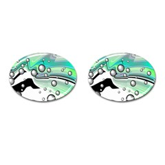 Small And Big Bubbles Cufflinks (oval) by Nexatart