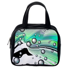 Small And Big Bubbles Classic Handbags (one Side) by Nexatart