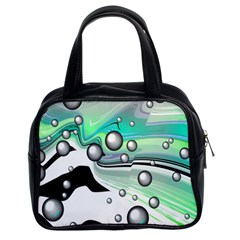 Small And Big Bubbles Classic Handbags (2 Sides) by Nexatart