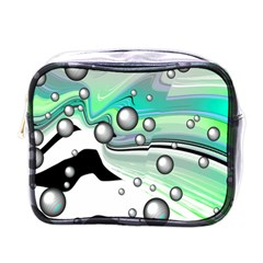 Small And Big Bubbles Mini Toiletries Bags by Nexatart