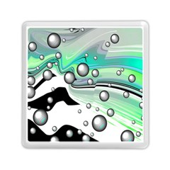 Small And Big Bubbles Memory Card Reader (square)  by Nexatart