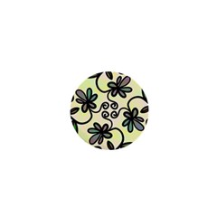 Completely Seamless Tileable Doodle Flower Art 1  Mini Magnets