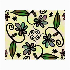 Completely Seamless Tileable Doodle Flower Art Small Glasses Cloth (2 Side)